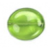 Glass Bead Flat 20/18mm Olivine Wavy Oval - Strung